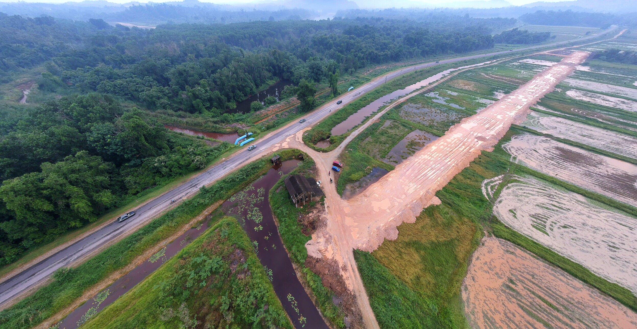 aerial, asphalt, countryside