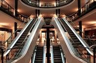 building, escalators, mall