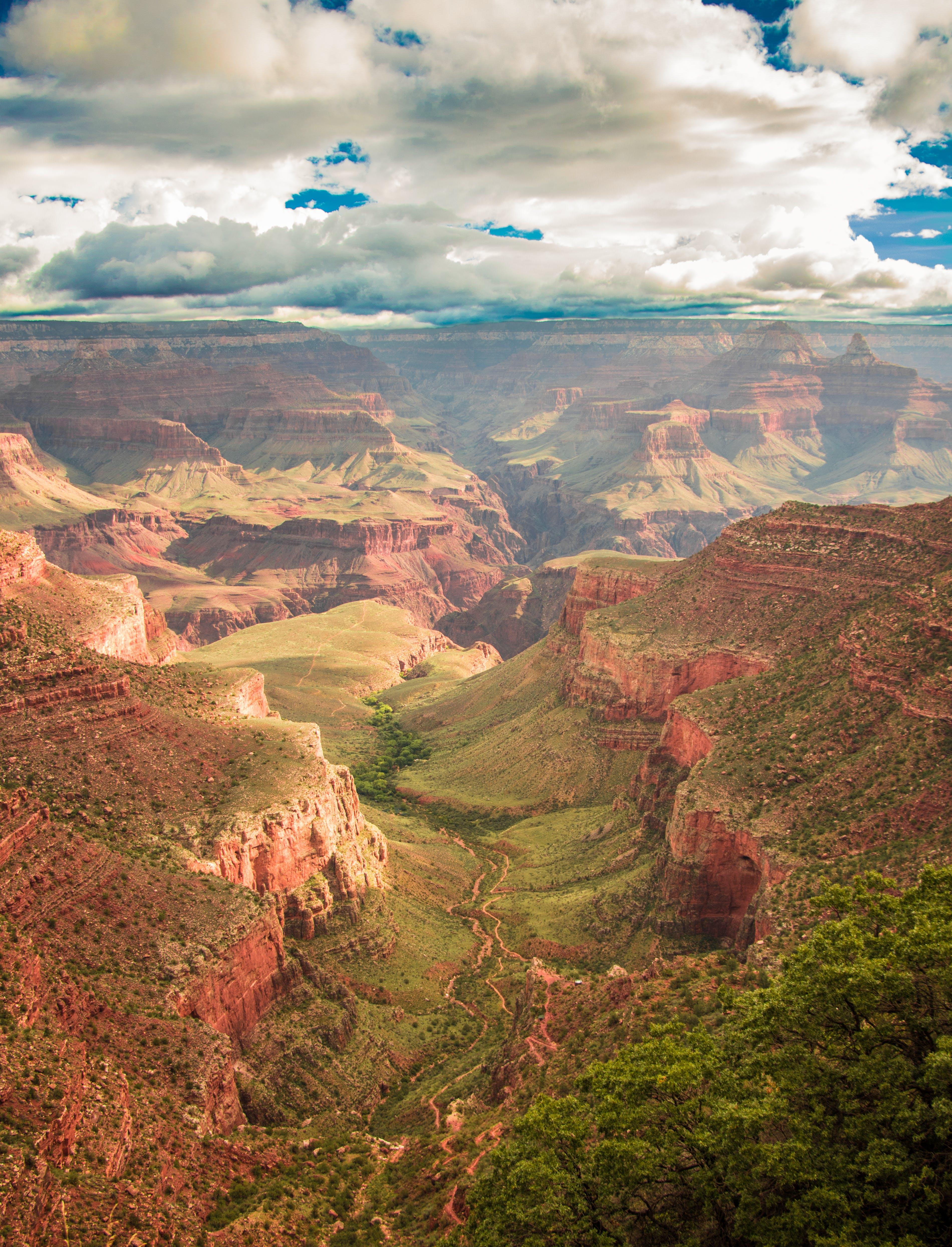 Bird's-eye Photography of Brown Rock Plateau