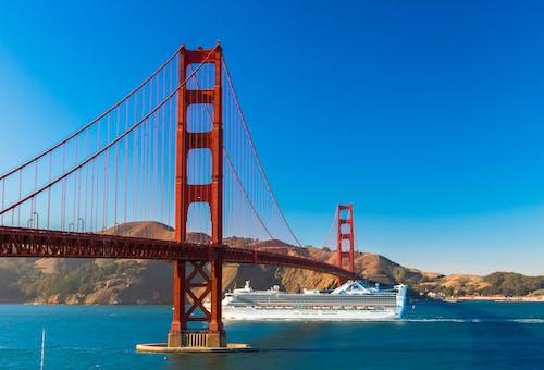 Gratis lagerfoto af arkitektur, blå himmel, bro, golden gate bridge