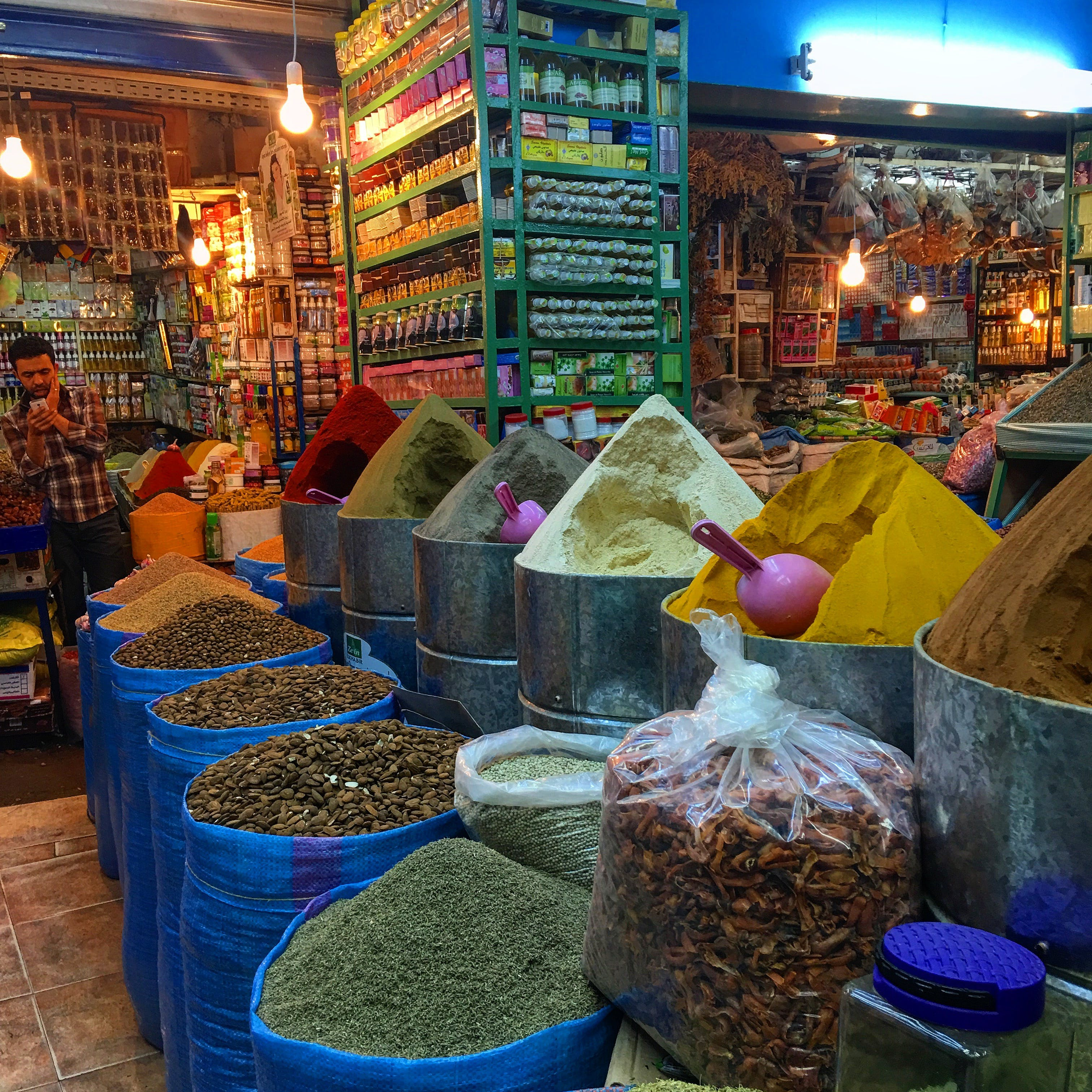 Free stock photo of market, Morroco, souk, spices