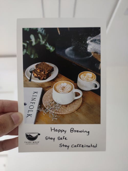Free stock photo of coffee, postcard