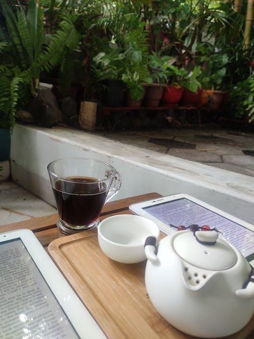 Free stock photo of black coffee, ebook, read