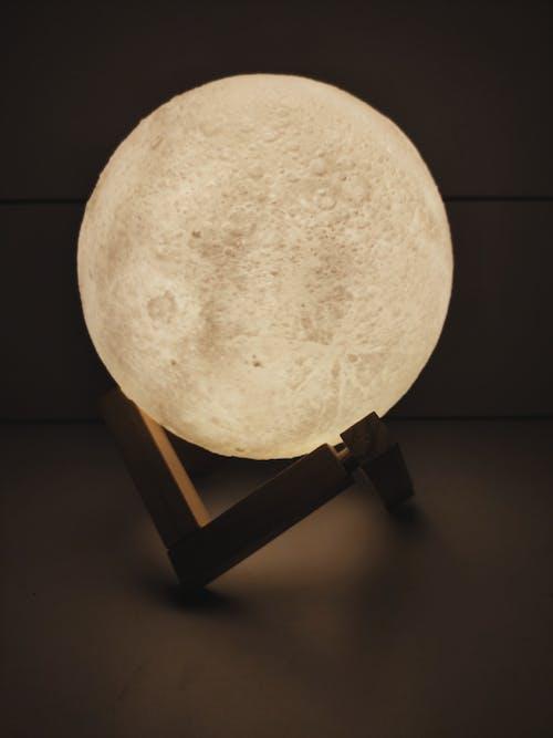 Free stock photo of lamp, moon, night