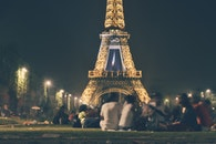 people, eiffel tower, france