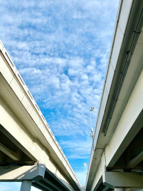 Free stock photo of beautiful sky, blue, blue sky, bridge railing