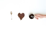 love, beans, caffeine