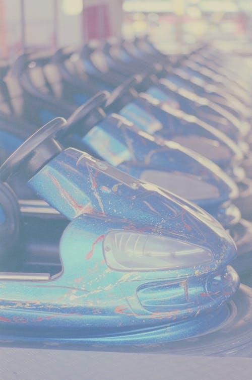 Blue and Black Car Steering Wheel