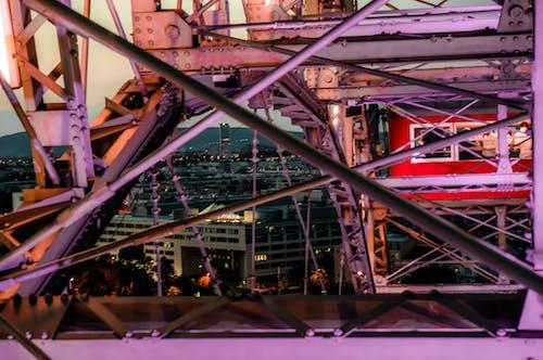 Fotos de stock gratuitas de cielo nocturno, estructura de acero, estructuras de acero, noche azul