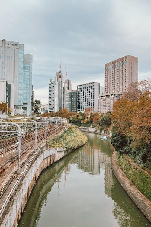 Train Tracks Next to a River