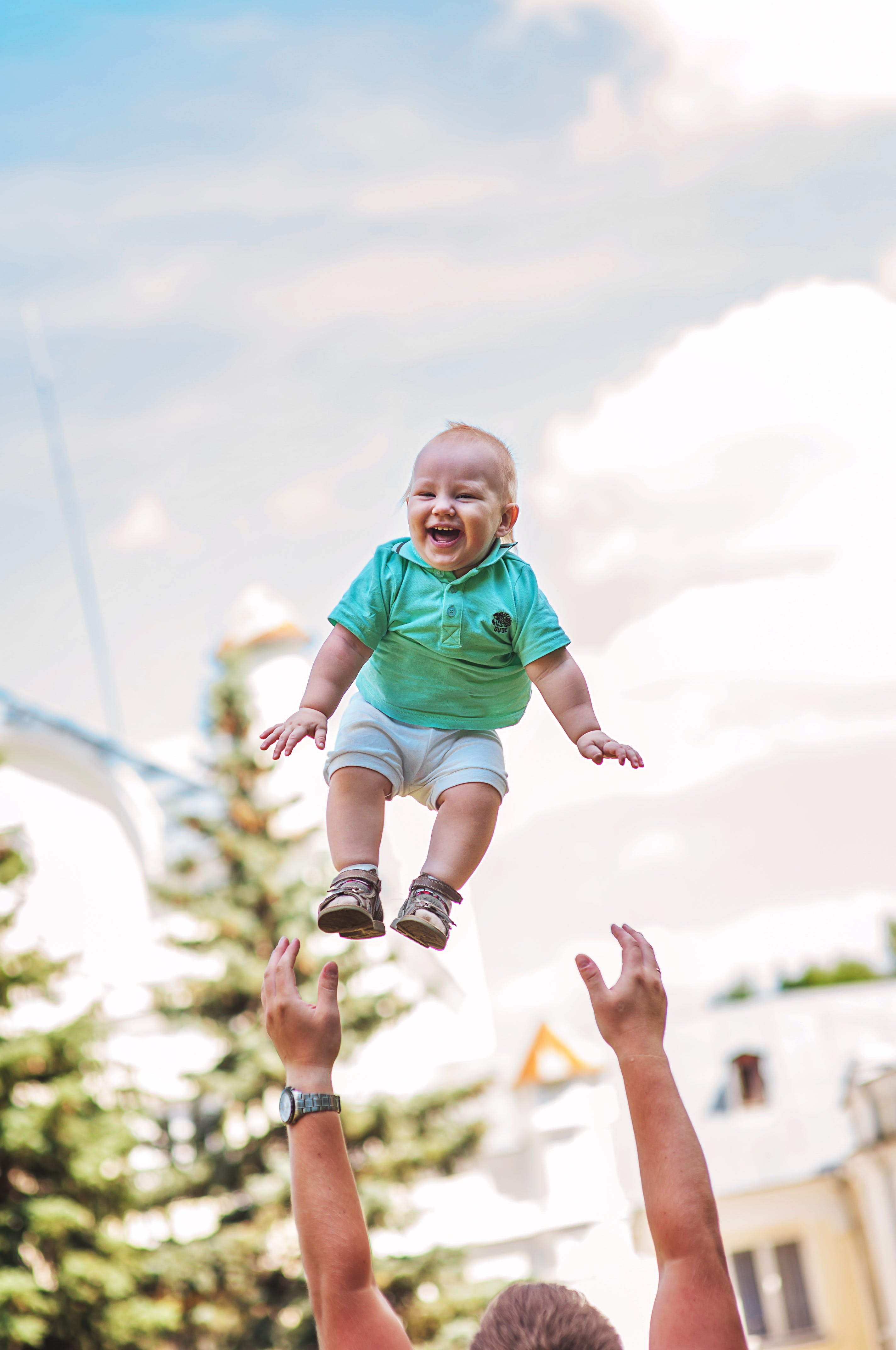 Free stock photo of child, kid, fly, happiness