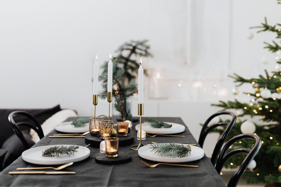 Table Setting At Christmas