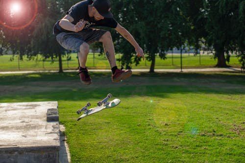 Free stock photo of jump, skateboard, vans
