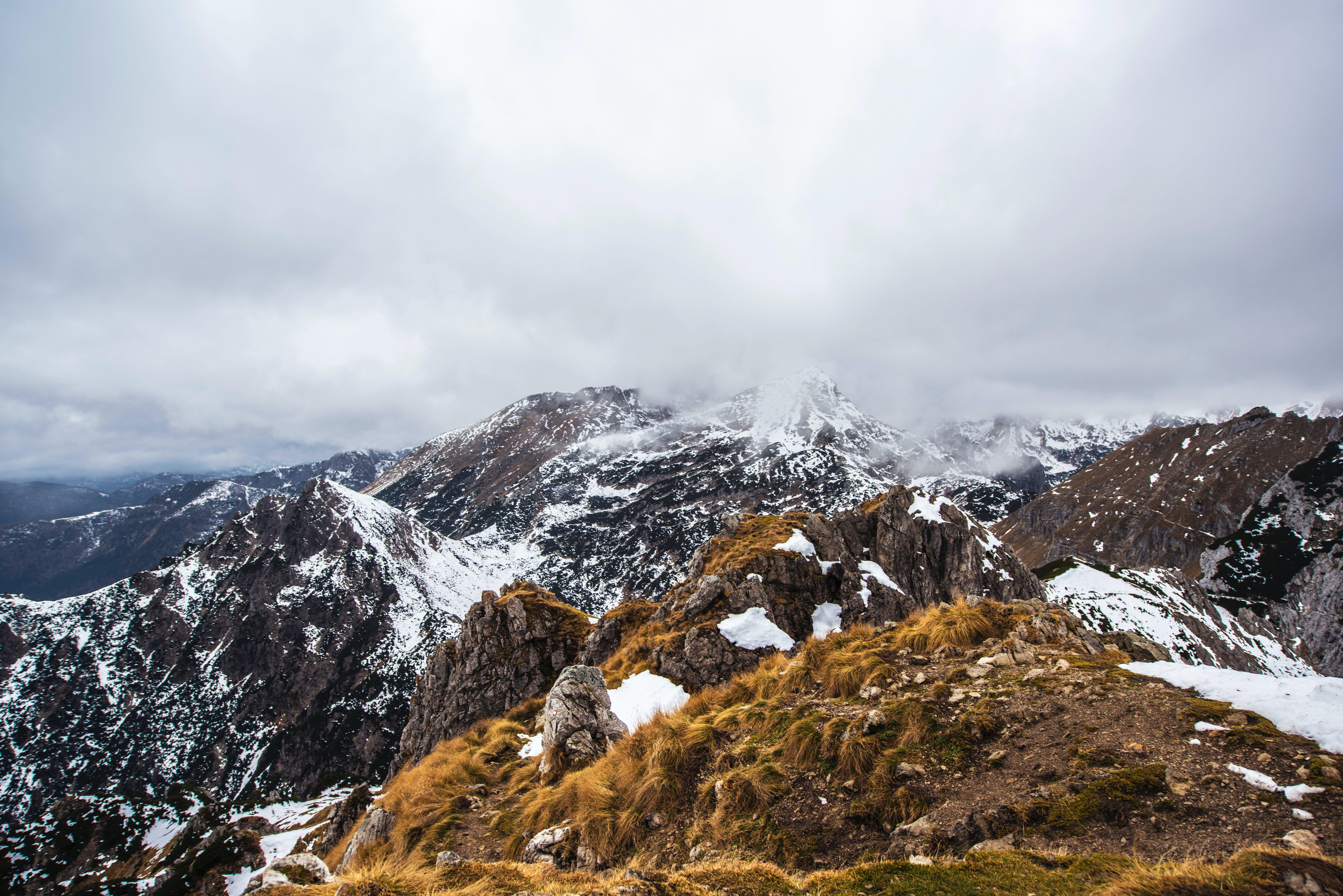 Darmowe zdjęcie z galerii z alpy, chmury, góry, lód