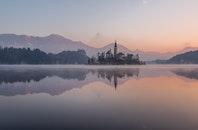 cold, dawn, landscape