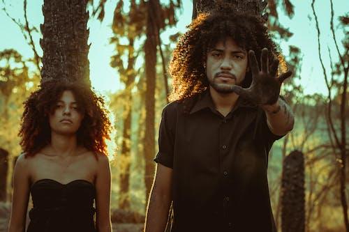 アフリカ系アメリカ人カップル, アフロ, いいえ, ガールフレンドの無料の写真素材