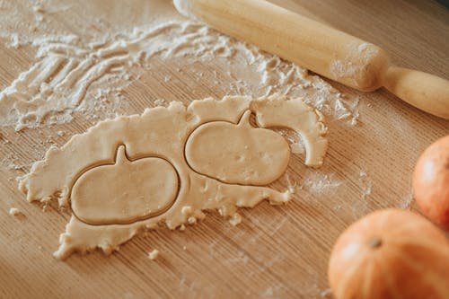 Making Pumpkin Shaped Cookies
