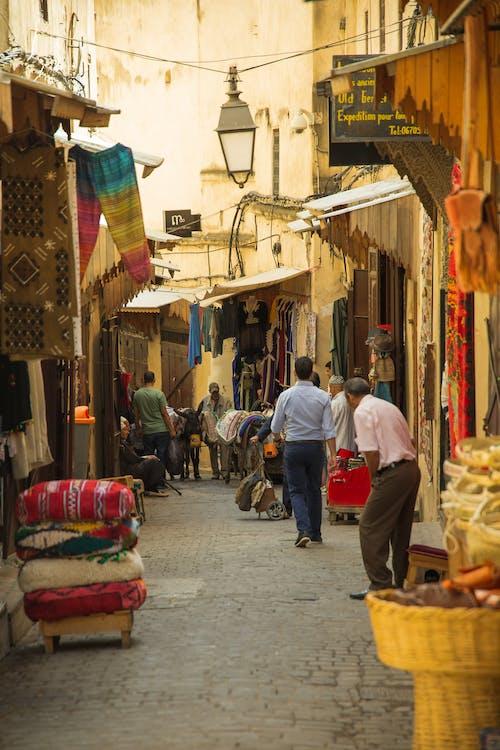 Narrow market street in Eastern town
