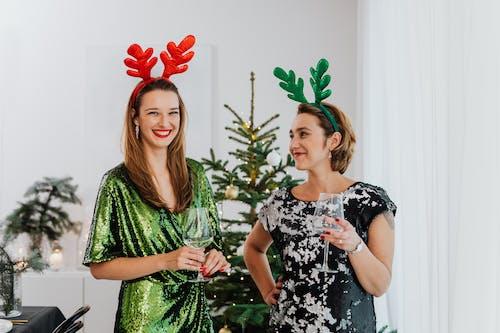 Friends Having Fun Celebrating Christmas