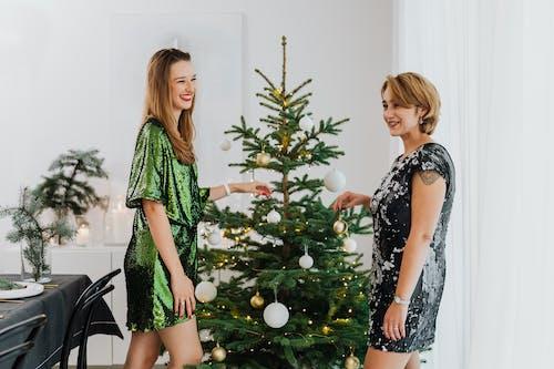 Friends Having Fun Celebrating Christmas Together
