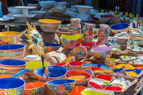 Free stock photo of bowls, colorful, colours