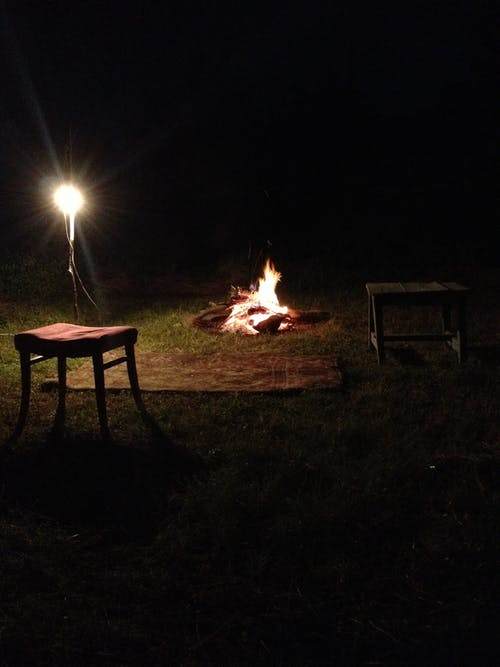 Free stock photo of Cosy around the night fire.