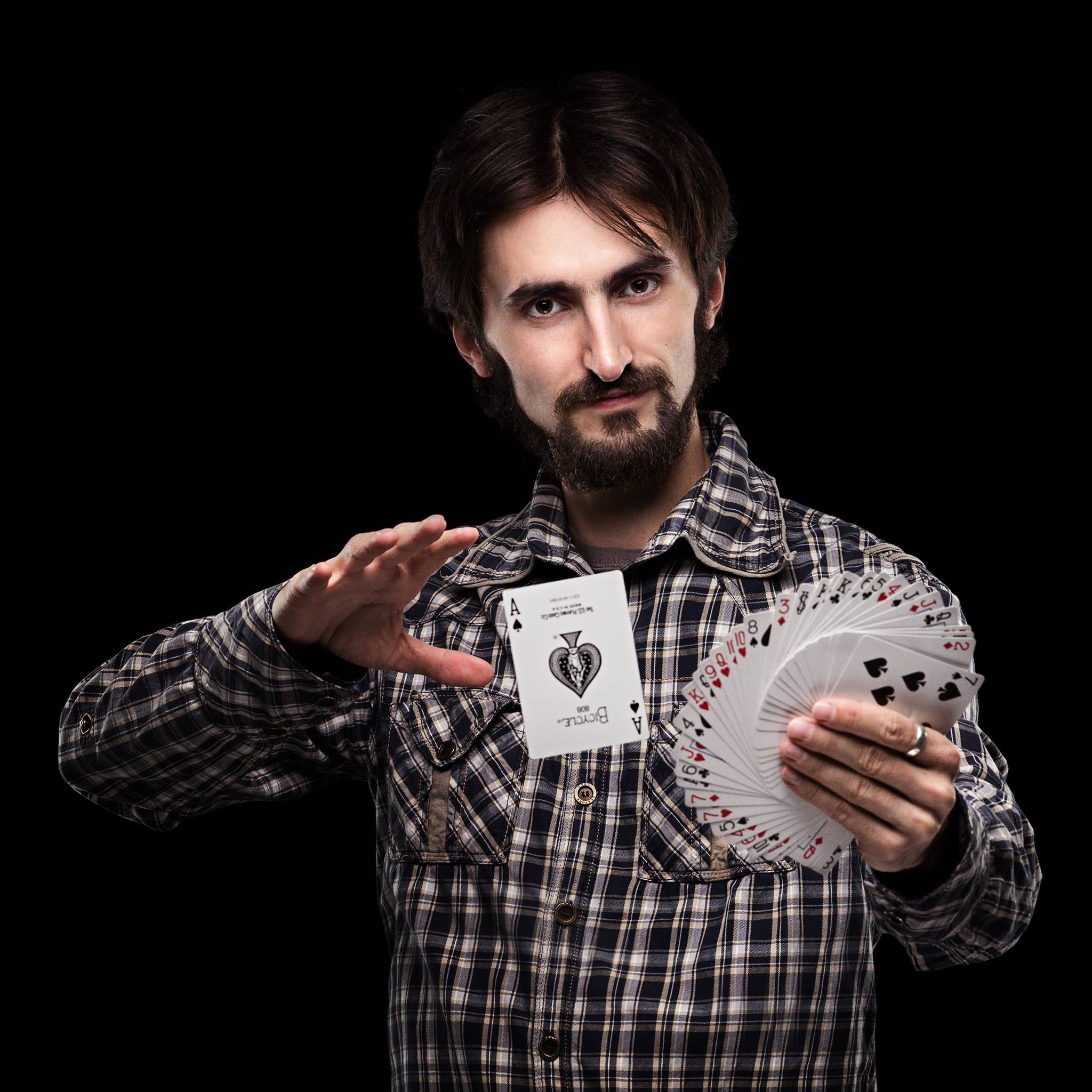 Person Doing Card Trick