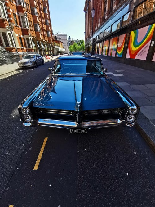 Free stock photo of central london, harrods, muscle car
