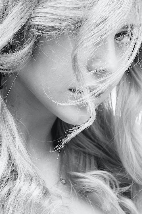 Immagine gratuita di bellissimo, bianco e nero, biondo, capelli