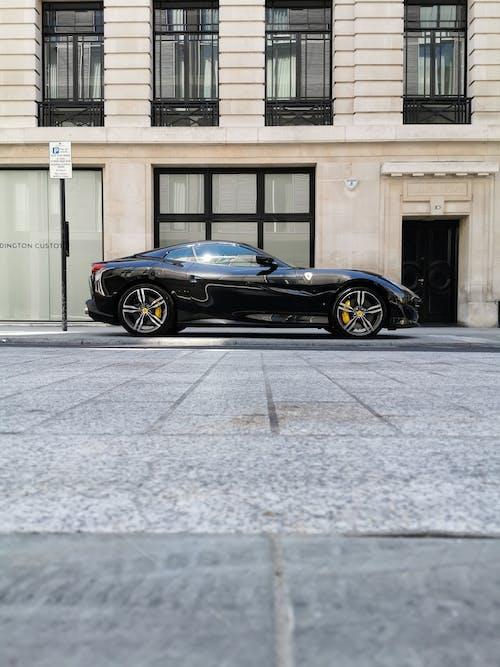 Free stock photo of black ferrari, central london, ferrari