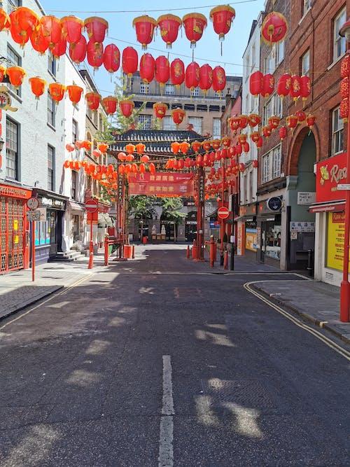 Foto stok gratis chinatown london, jalan kosong di london, london kosong