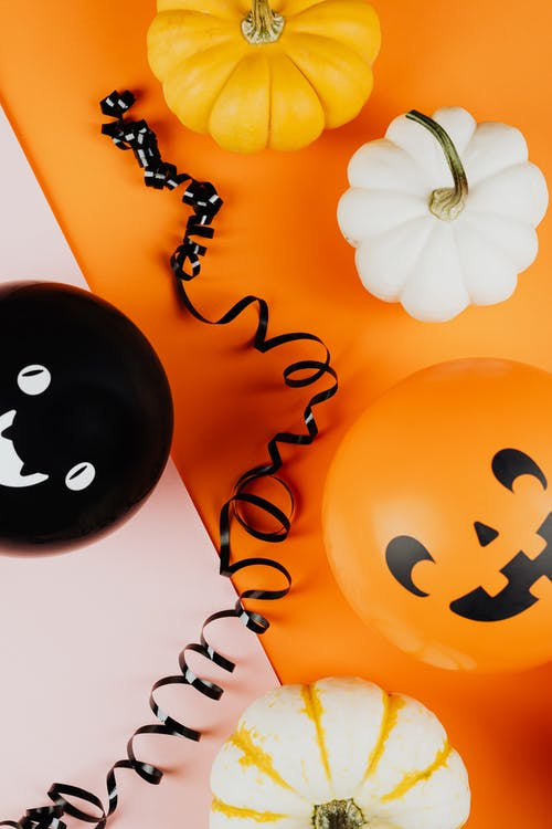 Pumpkins and Halloween Balloons