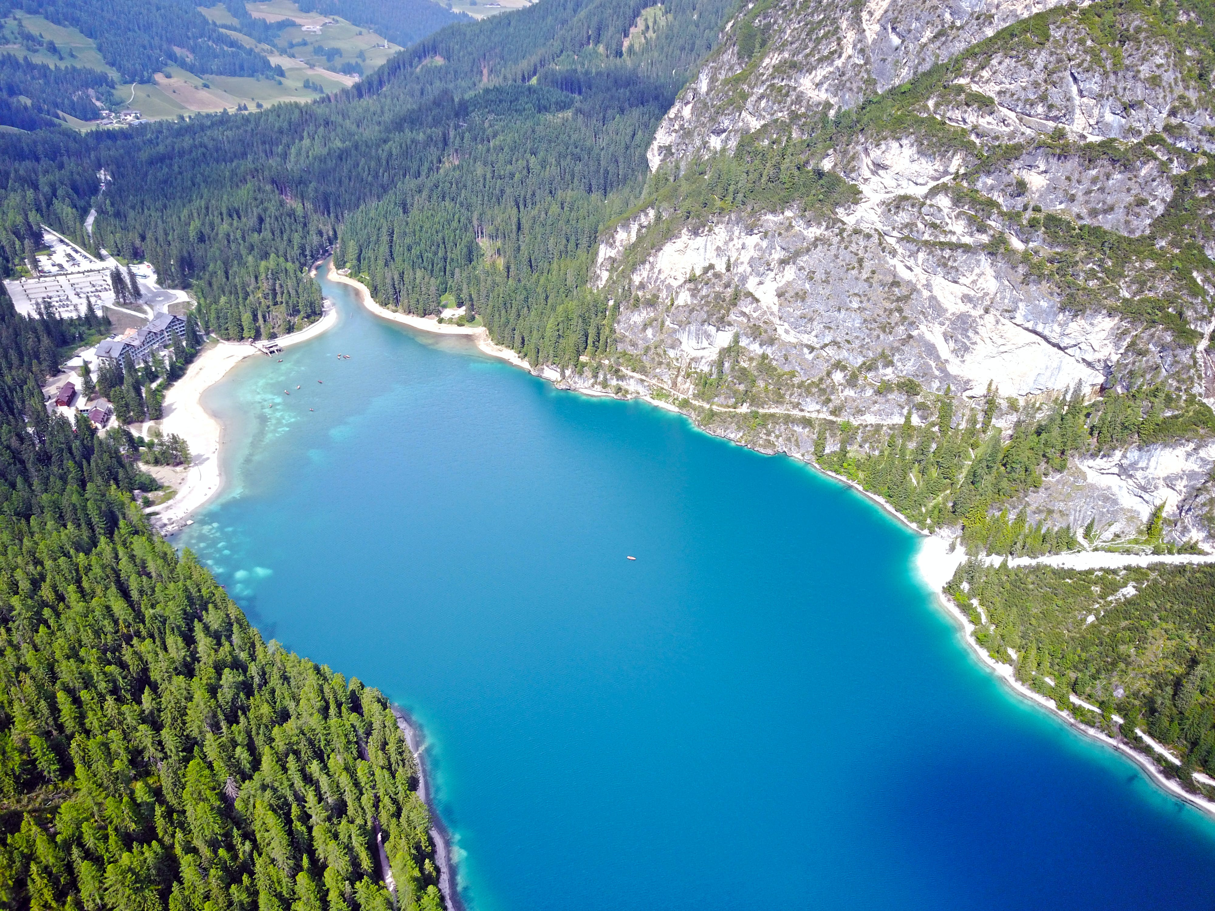 Aerial Photography of Mountains With River