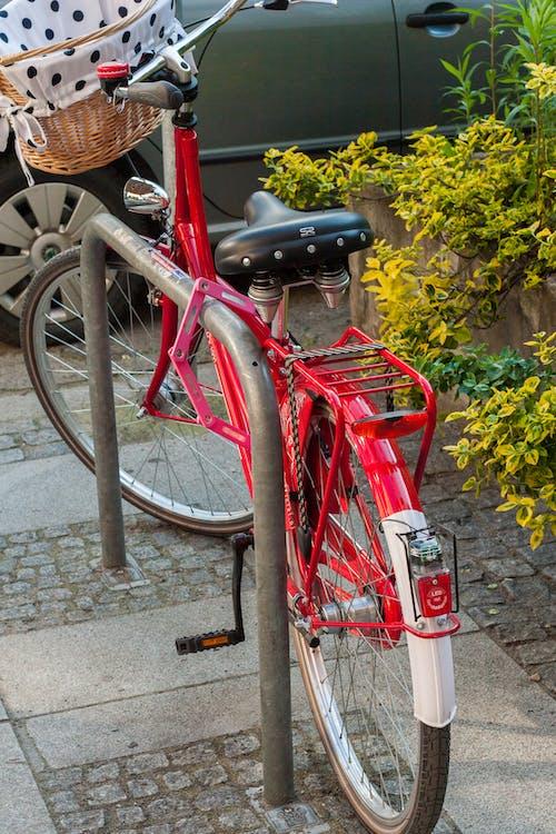 紅色, 经典自行车 的 免费素材照片