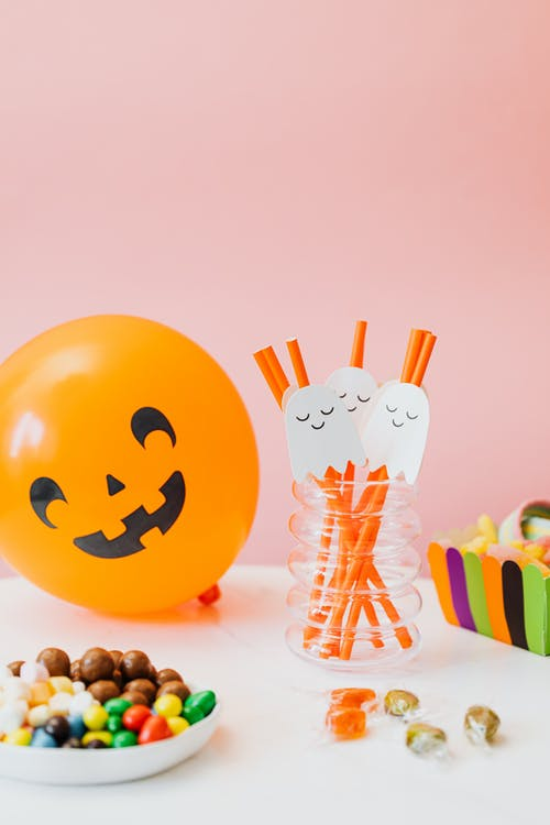 Candy and Halloween Decorations
