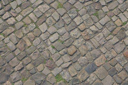 Gray and Brown Brick Pavement