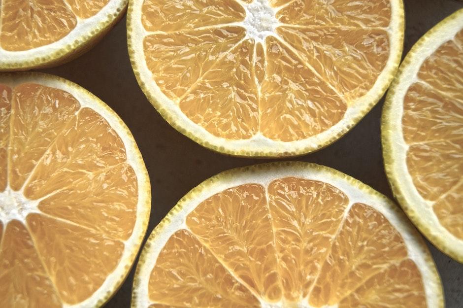 citrus, close-up, focus
