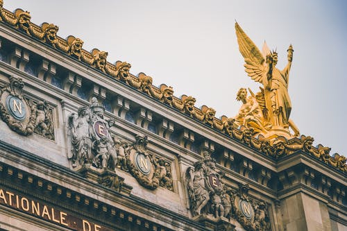 Angel Statue on Building