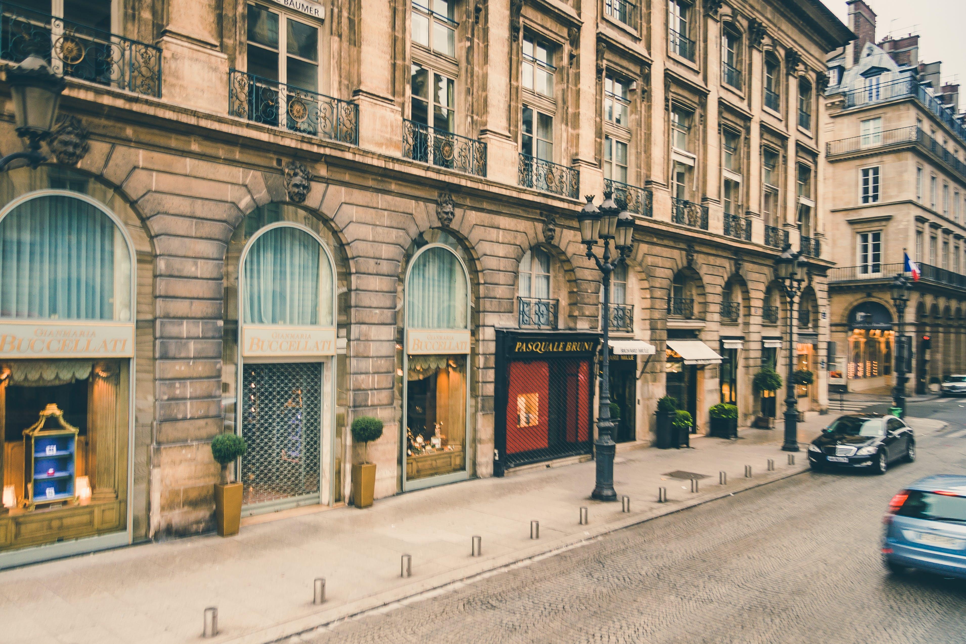 buildings, cars, city