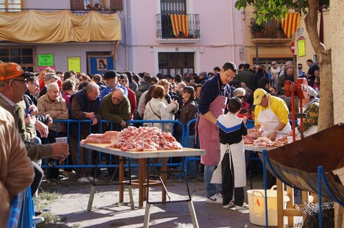 Free stock photo of españa, fiesta, fleisch