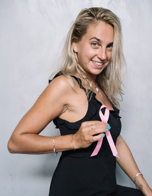 Woman in Black and Pink Tank Top