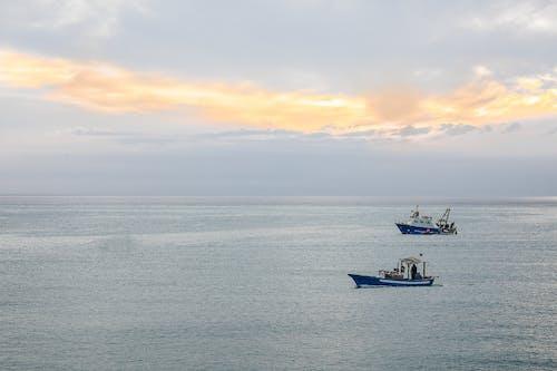 Boats in Open Sea