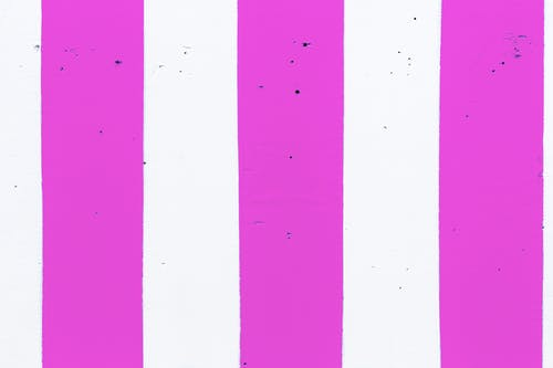 Striped pink and white pattern on wall
