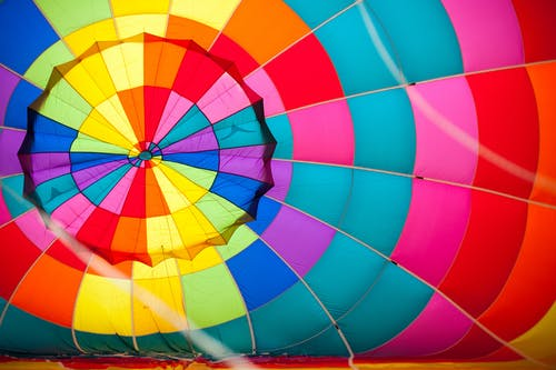 Free stock photo of colourful, hot air balloon, pattern