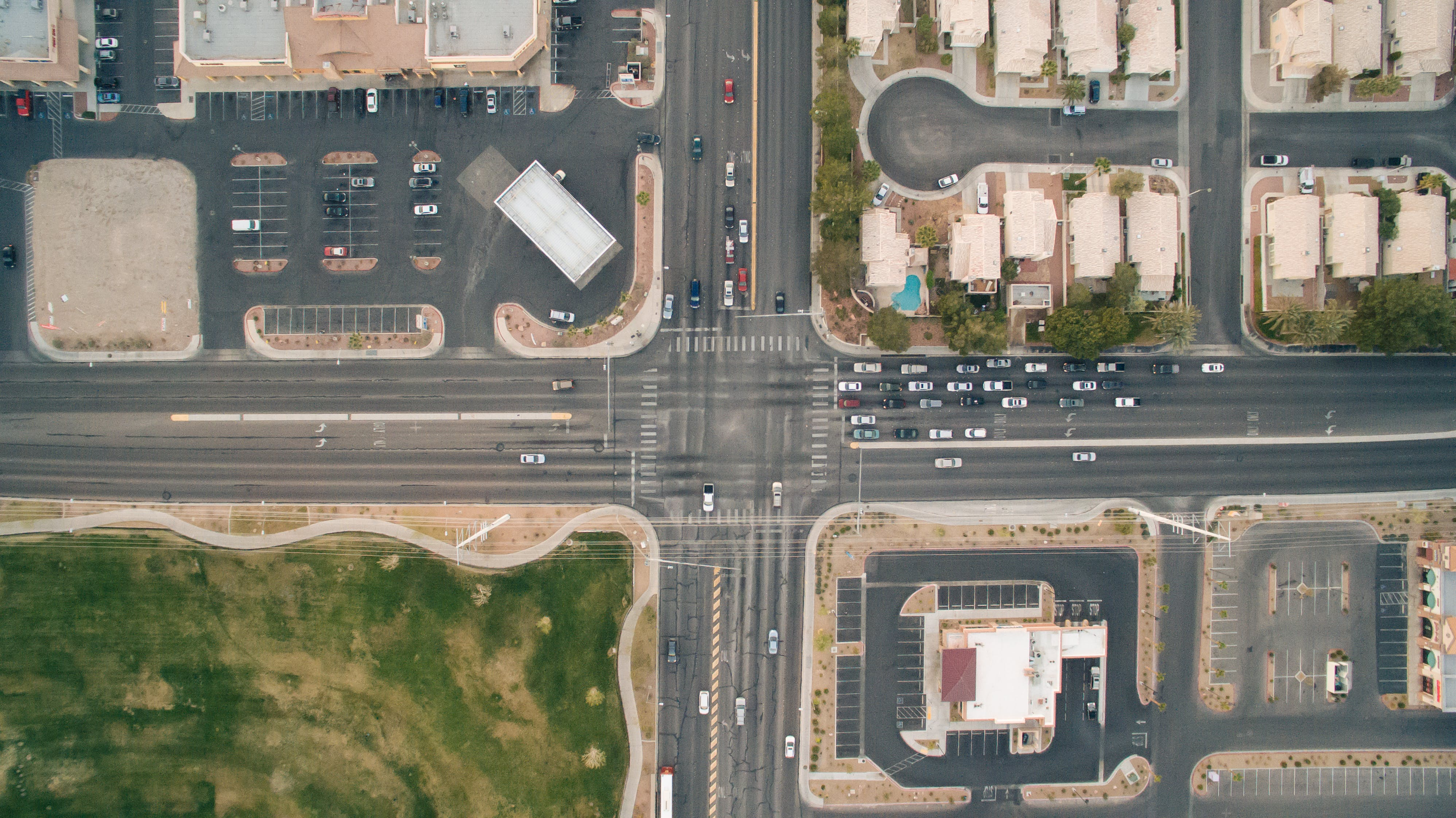 Aerial Photography of Road Intersection