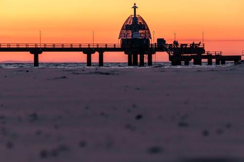 Free stock photo of pier, sunset