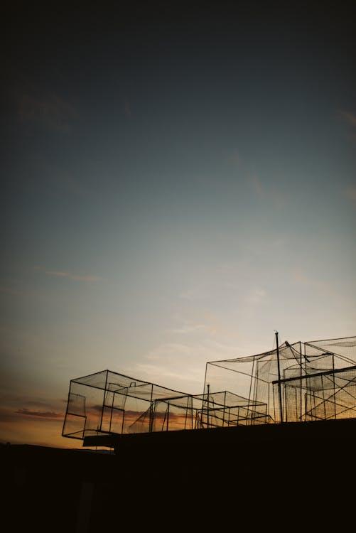 Black Metal Frame Under Blue Sky
