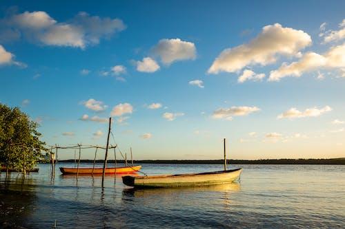 Photos gratuites de aube, bateau, bateaux, canoë