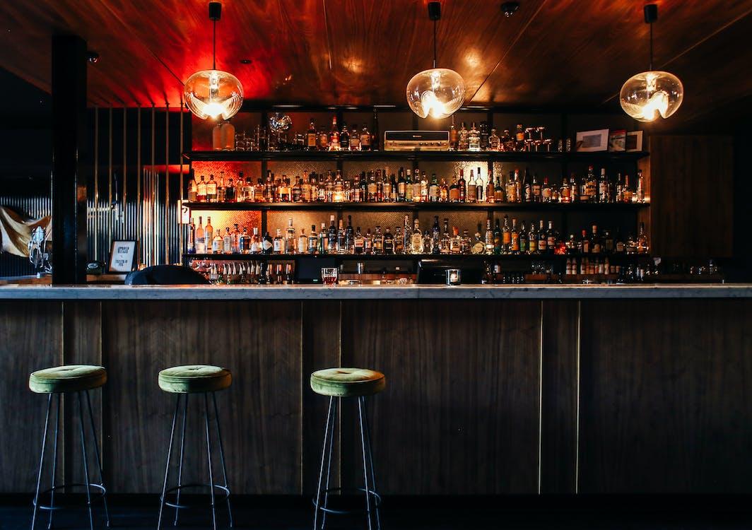 Stylish interior of bar in restaurant
