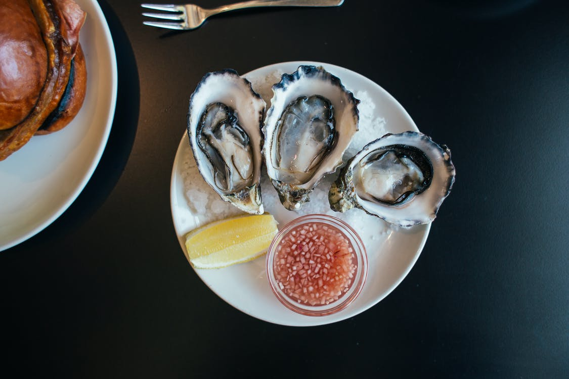 Eaten raw Oysters